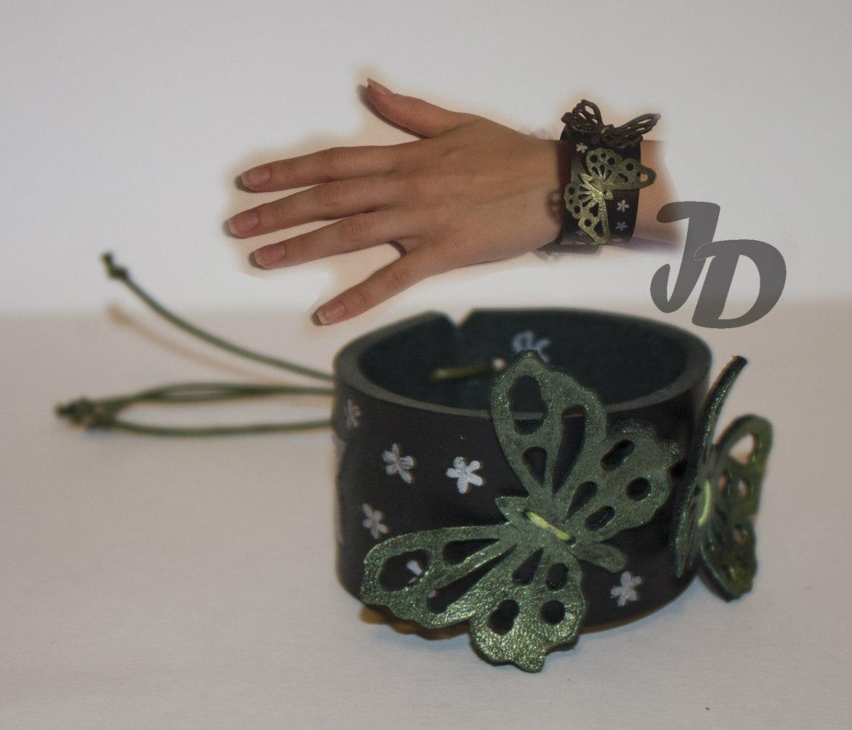Кожаный браслет №68 - кожа