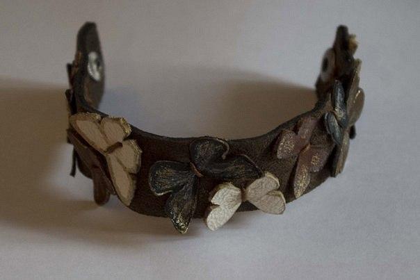 Кожаный браслет №52 - кожа, браслет,хэнд мэйд, кожаный