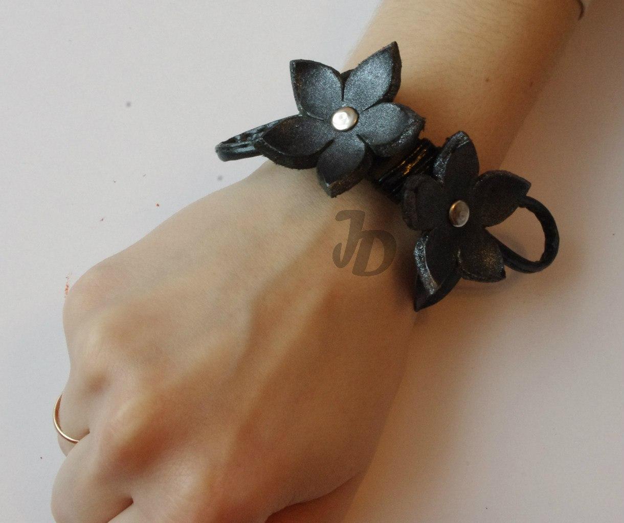 Кожаный браслет №89 - кожа