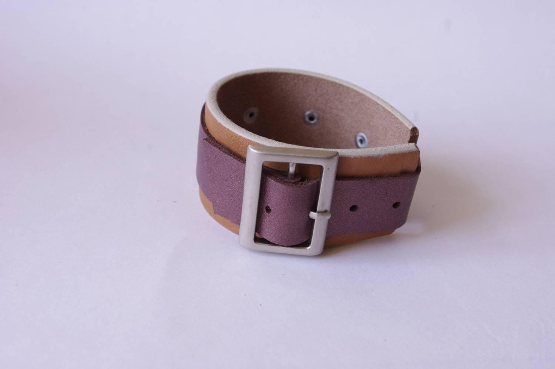№126. Кожаный браслет с пряжкой