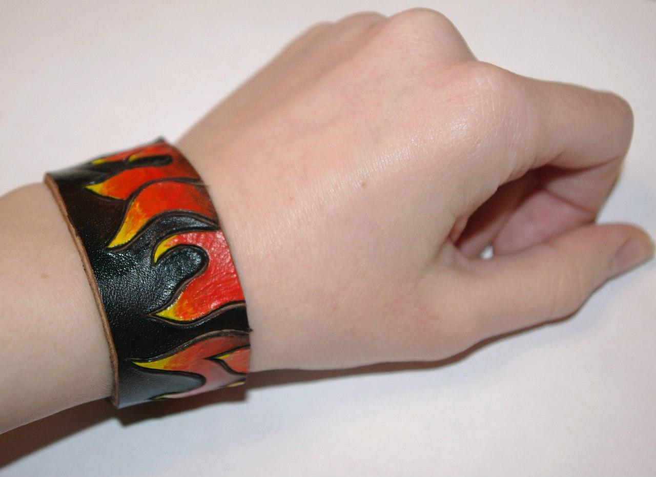 Кожаный браслет №101 - кожа