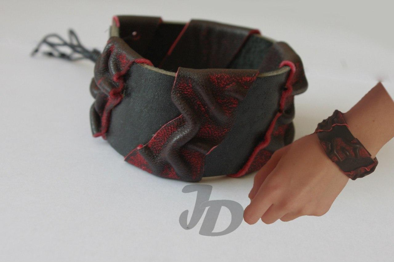 Кожаный браслет №74 - кожа