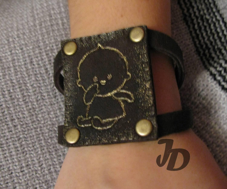 Кожаный браслет №44 - кожа