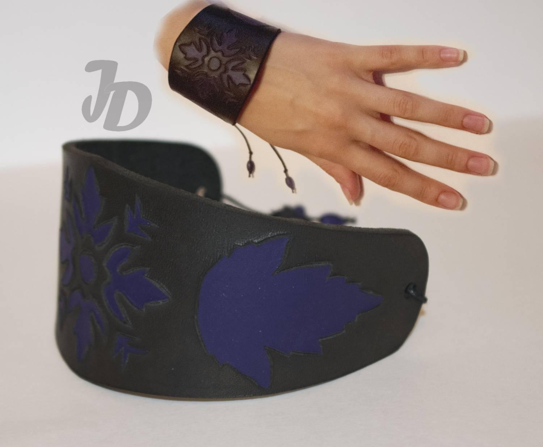 Кожаный браслет №64 - кожа