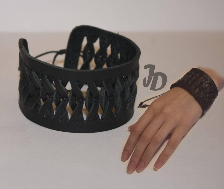 Как сделать кожаные браслеты своими руками 9