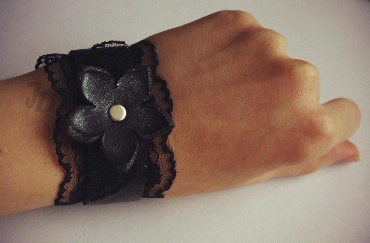 Кожаный браслет №92 - кожа