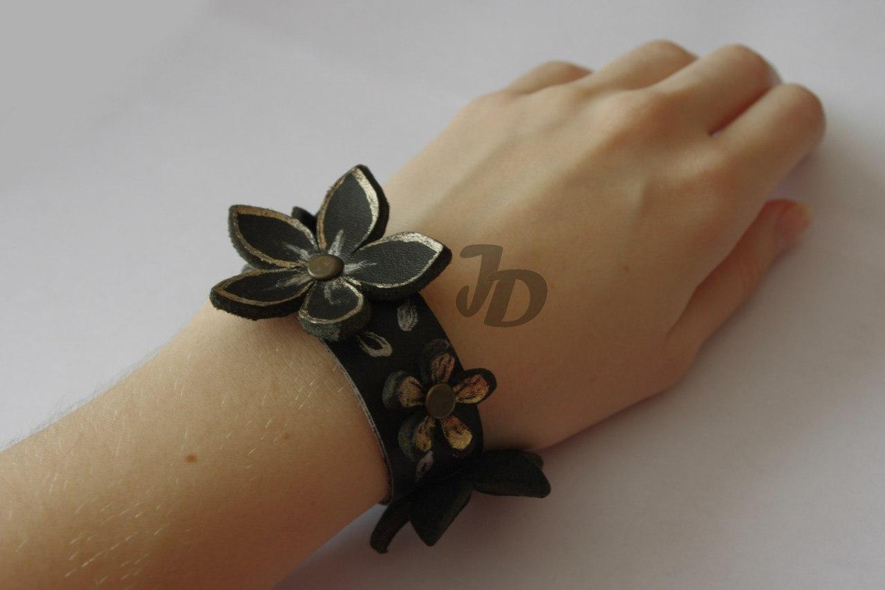 Кожаный браслет №81 - кожа