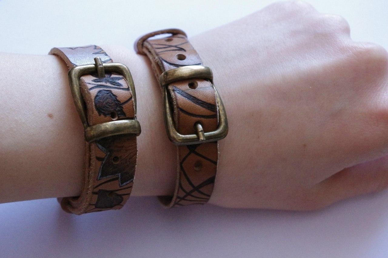 Кожаный браслет №100 - кожа