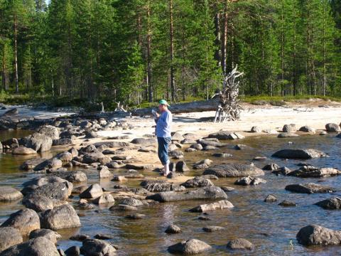 их с берегом соединяла лишь полоса камней в воде