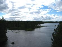 впереди мелькнул мост над рекой Ледмой